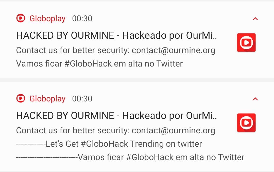 Globo Play tem sistema invadido
